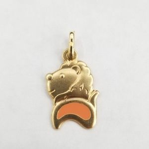 Jewelry - New yellow gold lion leo zodiac sign pendant charm